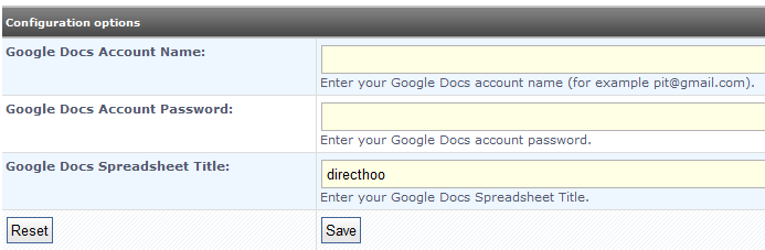Google Docs Settings