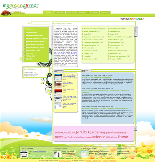 My Green Corner Directory - May 2008 Site of the Month